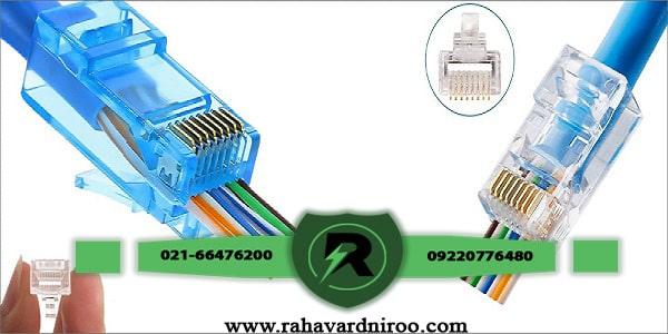 نصب سوکت شبکه در دوربین مدار بسته